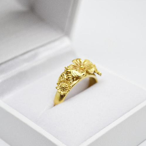 Gold Vermeil Flowers Crown