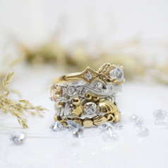 Vintage and Nature Inspired Engagement Rings