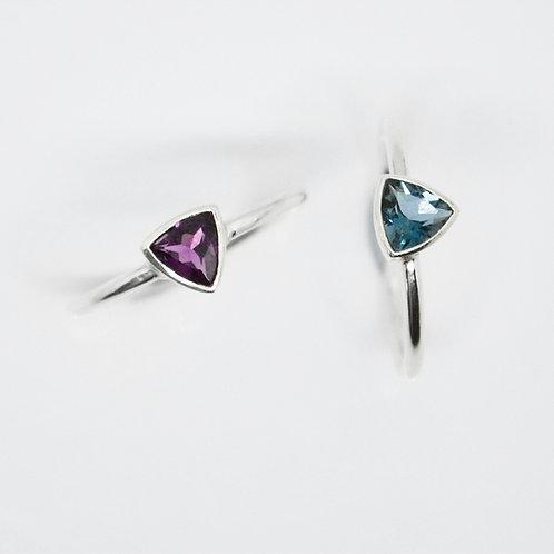 Trillion Gemstone Ring