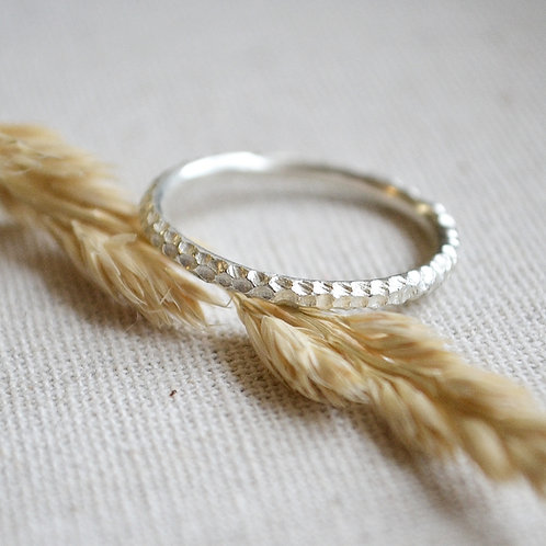 Coral Textured Ring