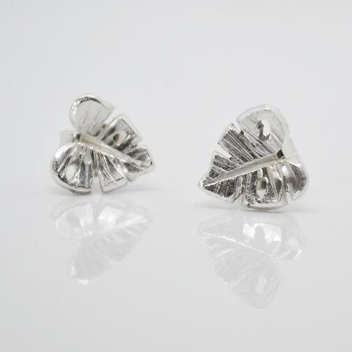 Monstera Stud Earrings