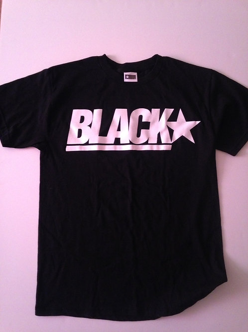 Black American Flag Star Tee