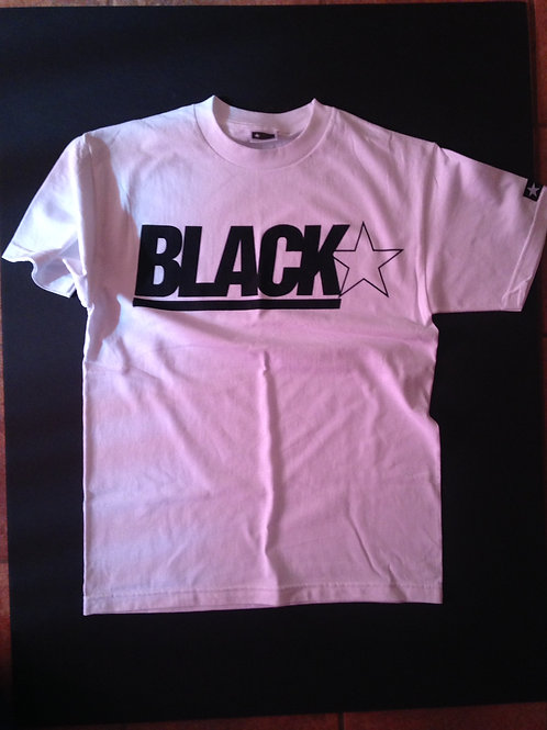 Black American Flag Tee ( white)