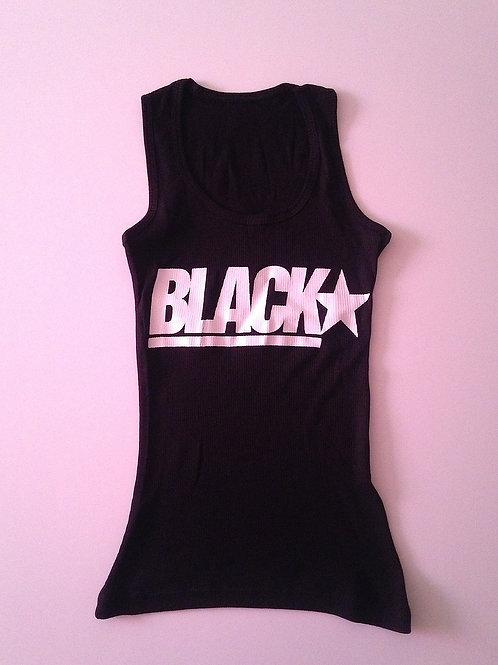 Women Black Tank Tee