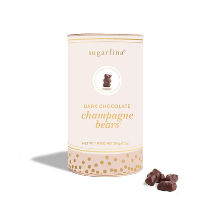 Dark Chocolate Champagne Bears Canister