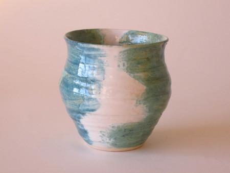 Sarah Burton Pottery Blue white turquois