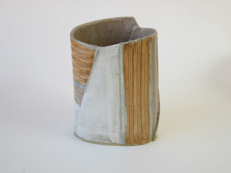 Burnt orange vase by Sarah Burton Pottery