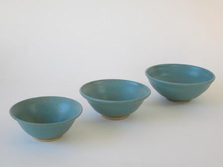 Turquoise bowls by Sarah Burton Pottery available from my shop soon