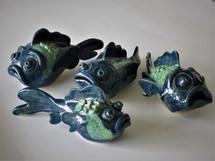Ceramic fish by Sarah Burton Pottery