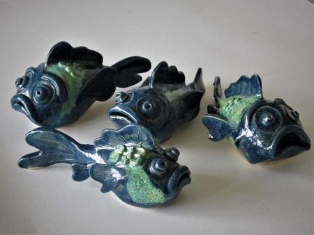 Ceramic fish by Sarah Burton Pottery