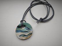 Sarah Burton Pottery ceramic wave pendant