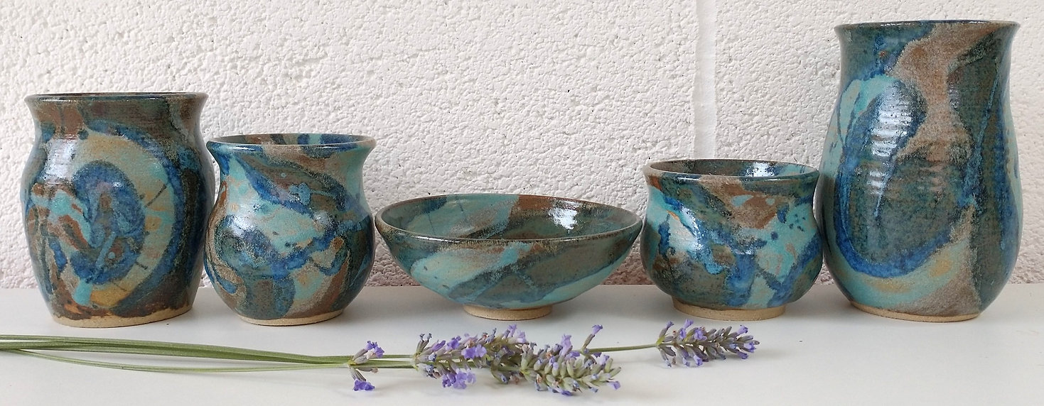 Blue and Turquoise Ceramic collection by