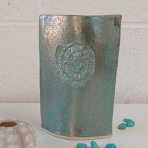 Turquoise green ceramic vase by Sarah Burton Pottery SOLD similar vases availabe from my online shop soon.  Send me an email for more information