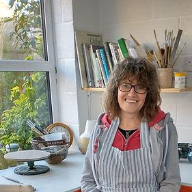 Sarah Burton in her pottery studio OSNot
