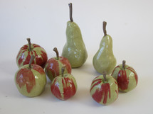 Ceramic Apples and Pears by Sarah Burton Pottery available from my shop soon