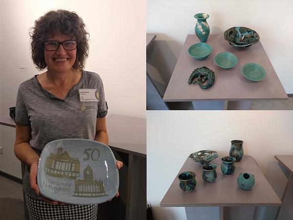Sarah Burton Pottery at Connections exhi