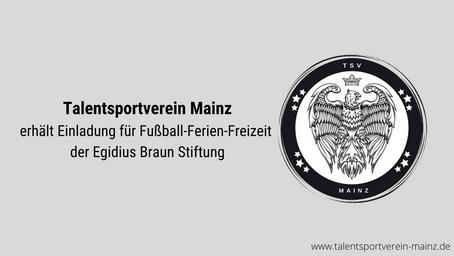 Talentsportverein erhält Einladung für Fußball-Ferien-Freizeit der Egidius Braun Stiftung
