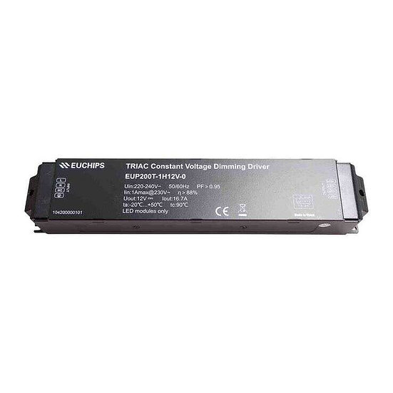 EUP Triac Dimmable Driver 12V 200W