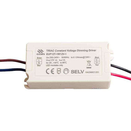 EUP Triac Dimmable Driver 12V 12W