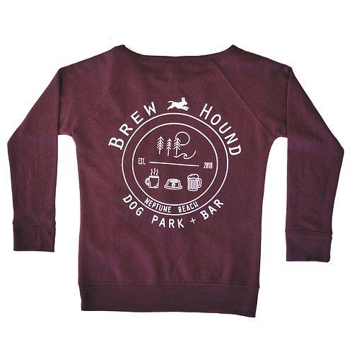Brewhound Dog Park + Bar Maroon Sweater