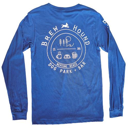 Brewhound Dog Park + Bar Blue Long Sleeve T-Shirt