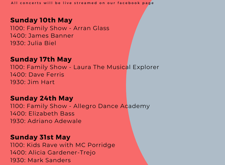 AROUND THE HOUSES. An online Jazz Festival. May Edition