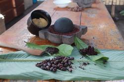 preparación de chocolate