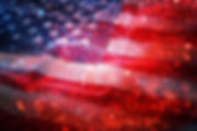 American flag and bokeh background with