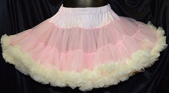 Soft Pink and Yellow Petticoat Crinoline