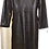 Vintage Black Leather Long Coat
