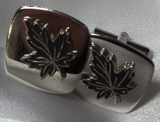 Vintage Cufflinks with Maple Leafs