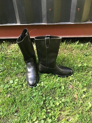 Vintage Men's Black Leather Collins Biker Boots Size 9