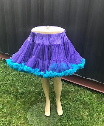 Deluxe Purple & Teal soft Petticoat Crinoline
