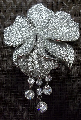 Costume Orchid Flower Brooch Pin