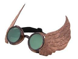 Steampunk Goggles with Wings