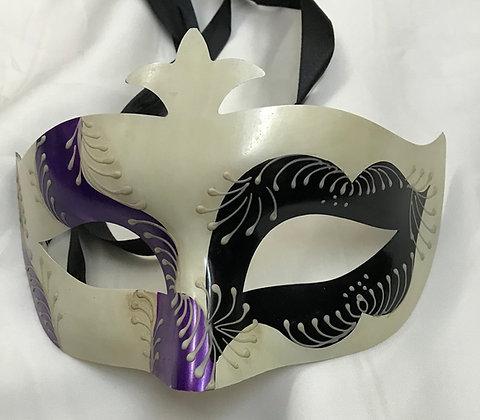 Men's Simple Masquerade Mask Black & Purple