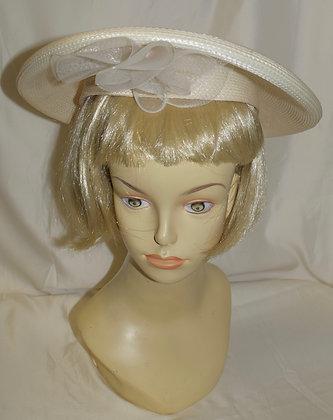 Vintage Beige Fancy Summer Hat