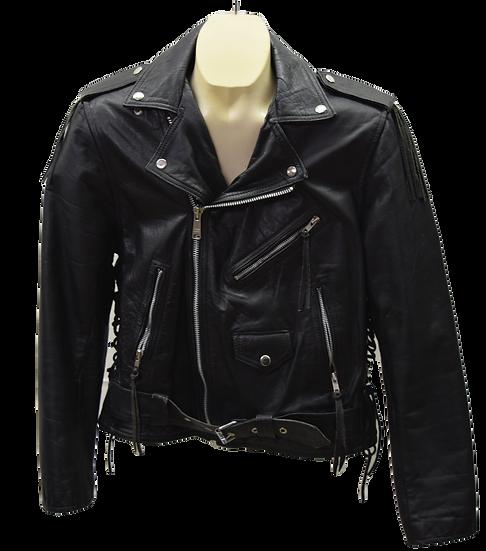 Vintage High Spirit Classic Leather Motorcycle Jacket