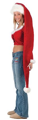 """60"""" Long Flannelette Santa Hat"""