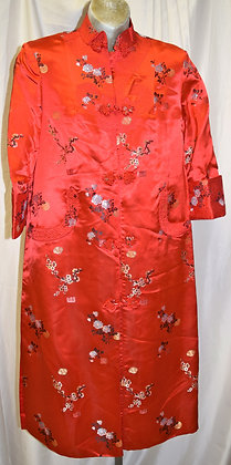 Vintage 3/4 Cut Traditional Chinese Jacket Red A003