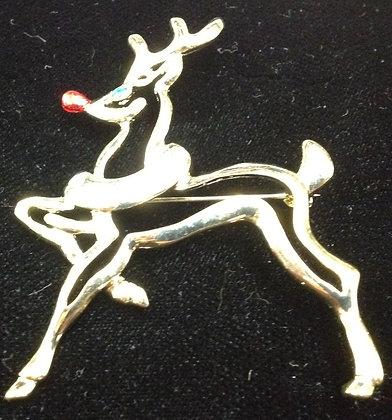 Christmas Reindeer Brooch pin