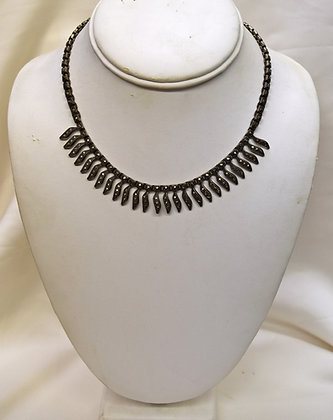 Antique Silver Necklace with Marcasites