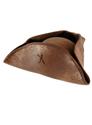 Brown Tricorn Hat