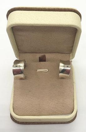 Vintage Wide Hoop Silver Earrings