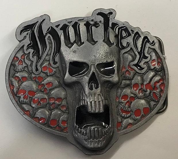 Vintage Hurley Skull Belt Buckle
