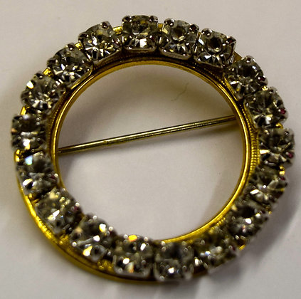 Vintage Round Shape Costume Brooch Pin