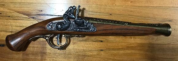 Denix Replica Flintlock Wood and Metal Pistol Germany 18th C.