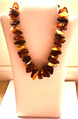 Multi Colour Baltic Amber Beaded Necklace