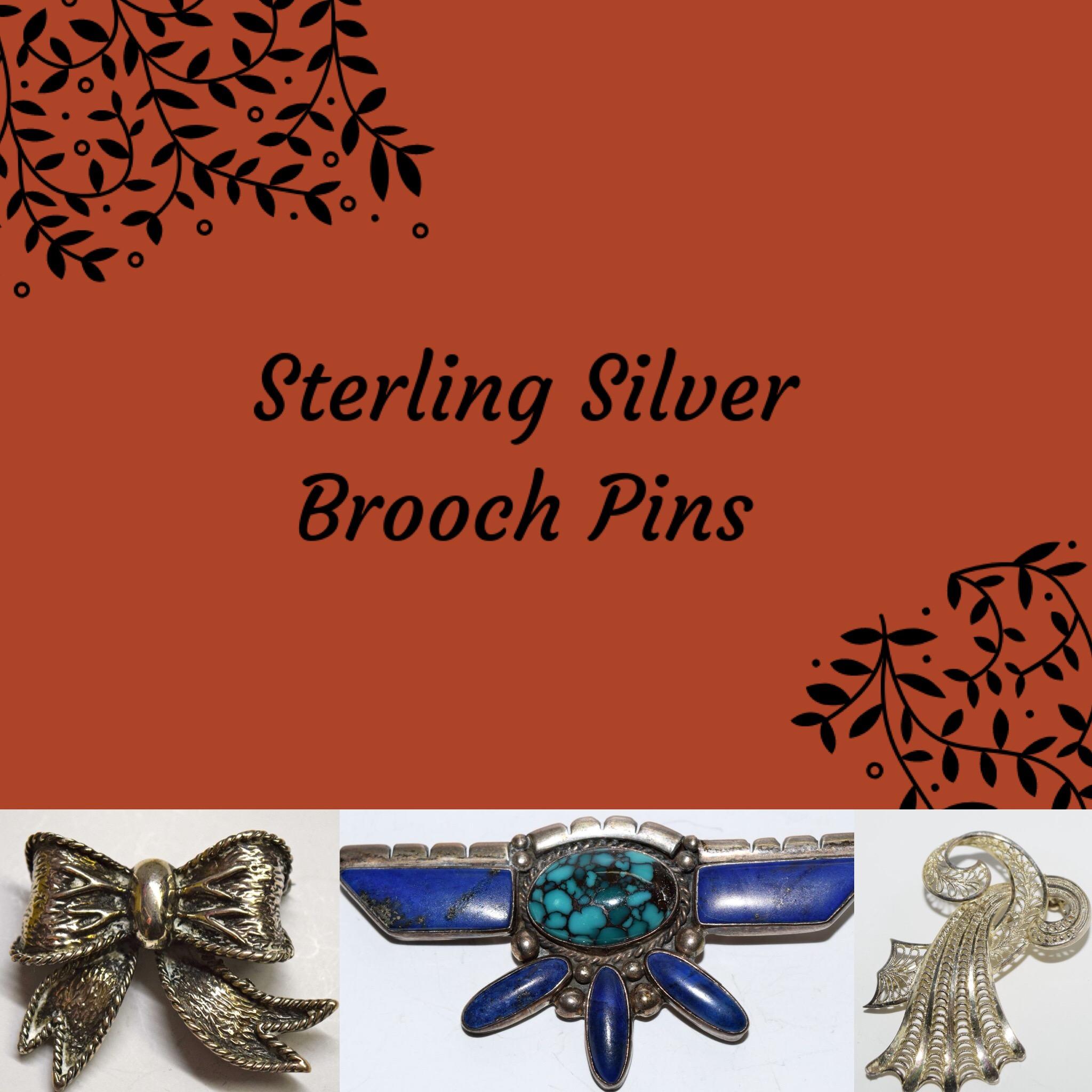 Sterling Silver Brooch Pins