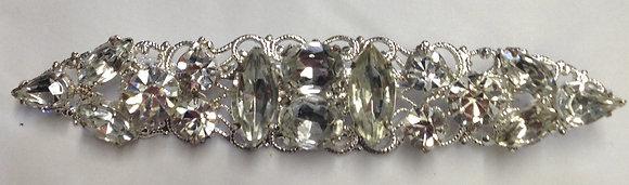 Clear Flower Brooch Pin